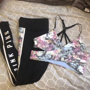 VS PINK Leggings and matching Bra